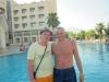 Мы с Денисом. С этим человеком мы в одну ночь пошли пить пиво на море, когда все уже пошли спать. Он из Домодедово, тоже классный.